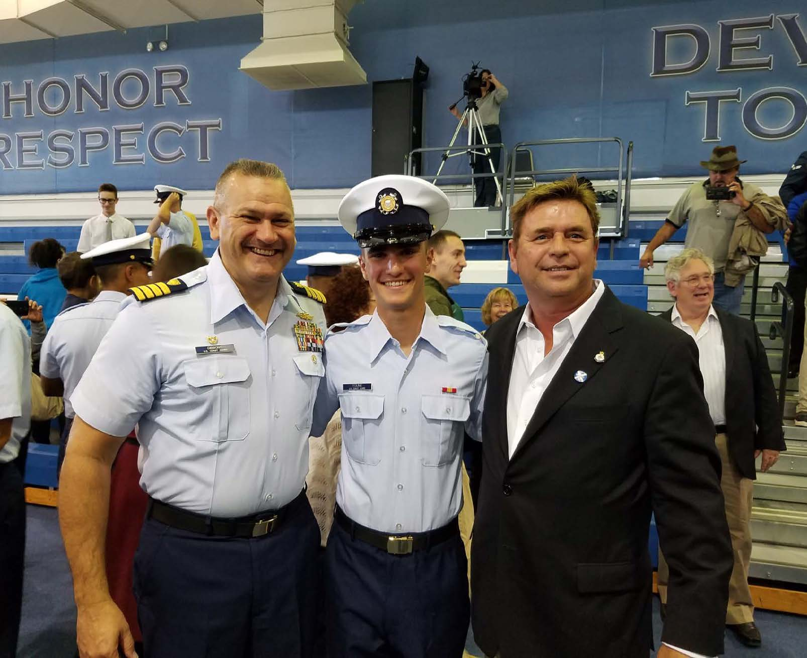 Ben Young graduates from United States Coast Guard Academy