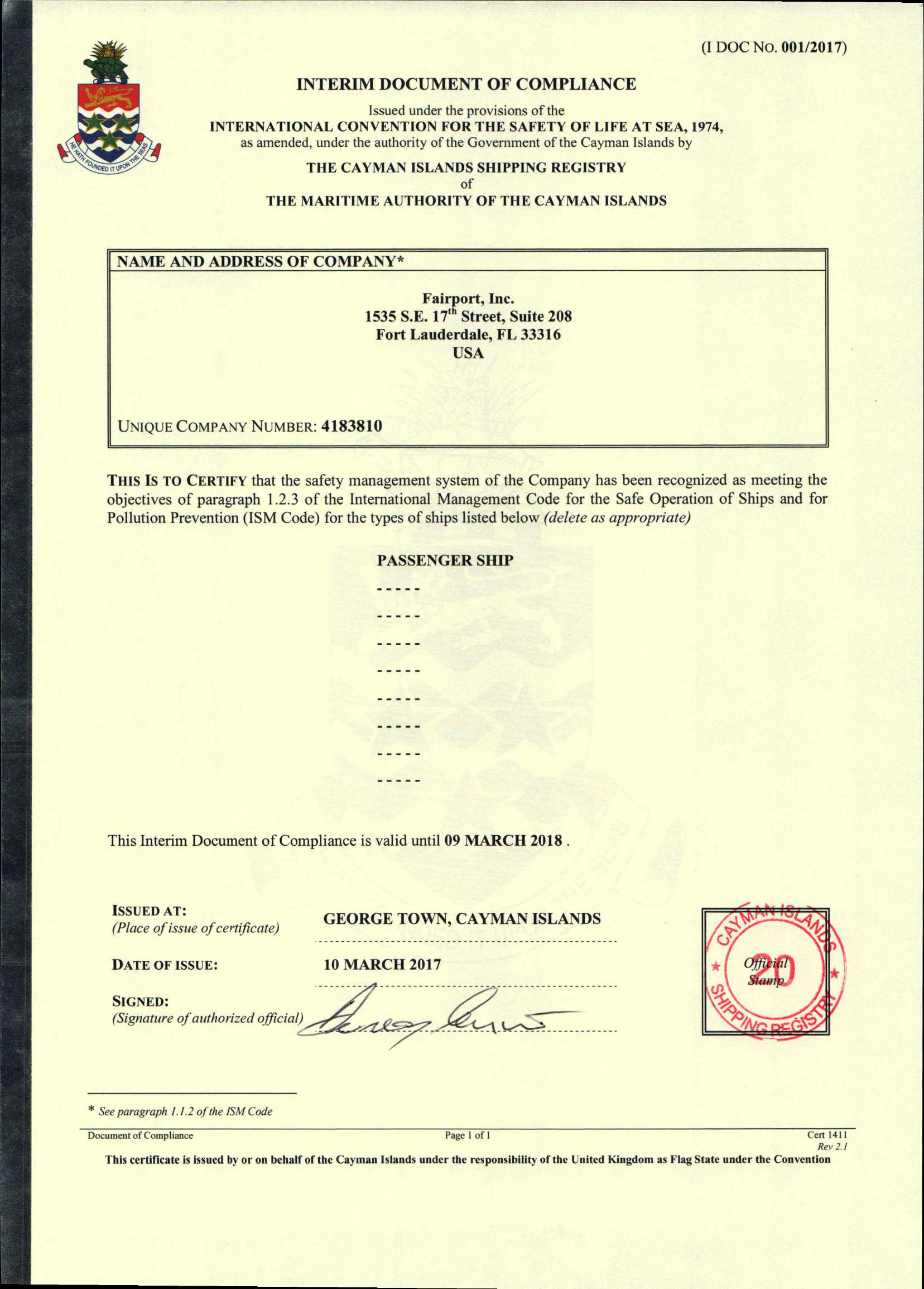 Fairport Yacht Support is PYC Certified