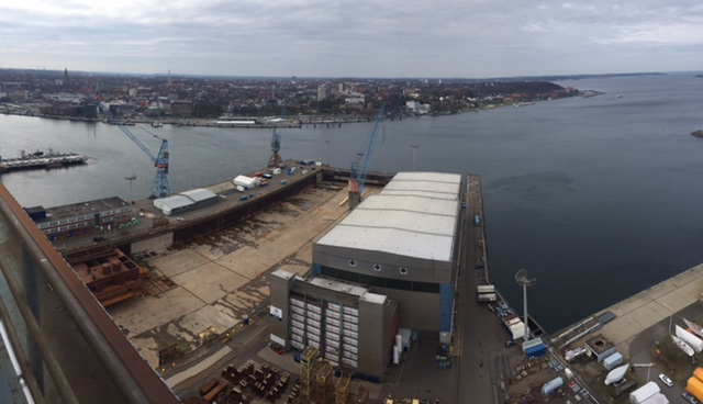 Graeme Lord and Richard Young are at the Nobiskrug Shipyard